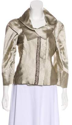 Etro Lace-Accented Satin Jacket