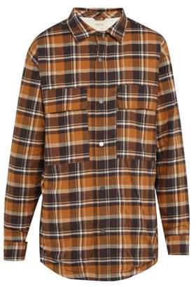 Fear Of God Checked Flannel Overshirt - Mens - Brown Multi