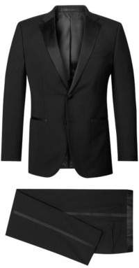 BOSS Hugo Wool Tuxedo, Regular Fit Stars/Glamour 42L Black