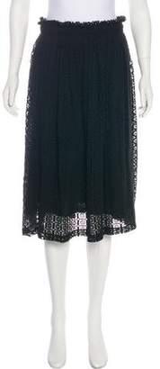 Apiece Apart Crochet Knee-Length Skirt