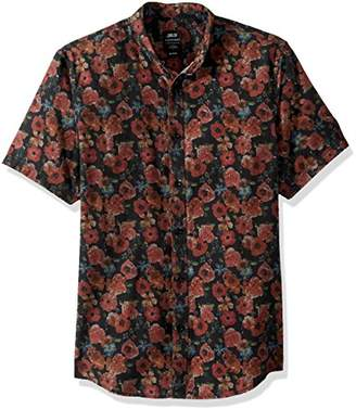 Publish Brand INC. Men's Printed Chambray Woven Shirt