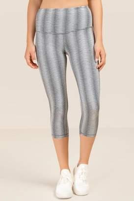 francesca's Nira Cropped High Waist Legging - Gray