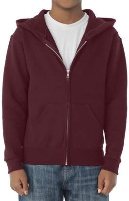 JERZEES Boys' Mid-Weight Fleece Full-Zip Hooded Sweatshirt