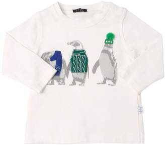 Il Gufo Penguins Printed Cotton Jersey T-Shirt