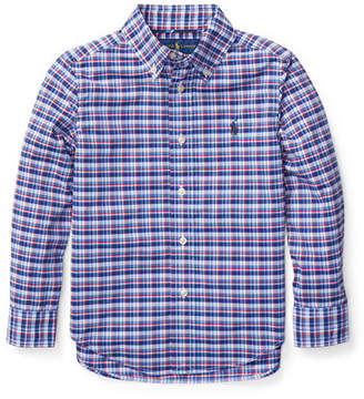 Ralph Lauren Long-Sleeve Plaid Button-Down Shirt, Size 5-7
