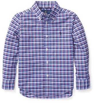 Ralph Lauren Childrenswear Long-Sleeve Plaid Button-Down Shirt, Size 5-7