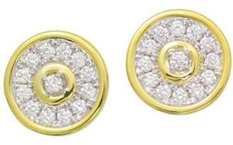 Frederic Sage 18K White & Yellow Gold Firenze Diamond Disc Stud Earrings