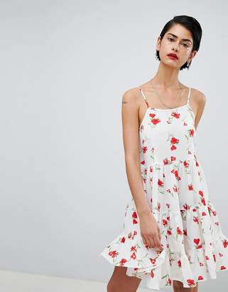 Missguided Cami Strap Floral Smock Dress
