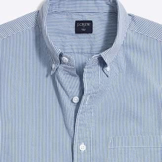 J.Crew Factory Slim-fit short-sleeve seersucker shirt