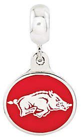 Collegiate Bead Company Sterling Silver University of Arkansas Dangle B