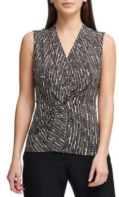 Donna Karan Sleeveless Knotted Top