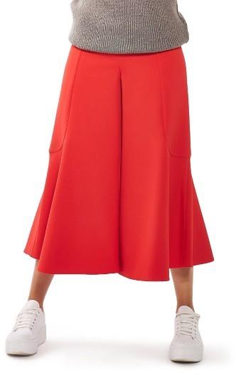 TopshopWomen's Topshop Meg Zip Frill Palazzo Trousers