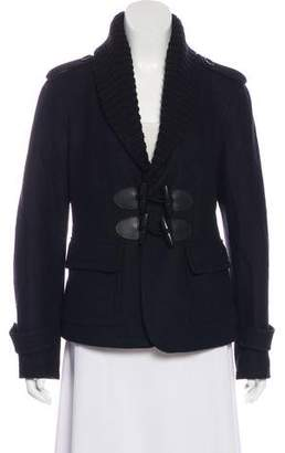 Burberry Fitted Wool Jacket