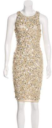 Alice + Olivia Sequin Embellished Sleeveless Knee-Length Dress w/ Tags