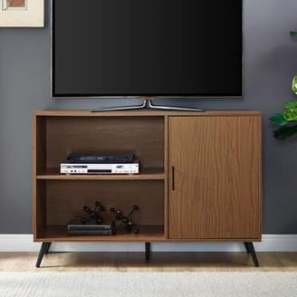 Mid-Century MODERN Manor Park 48 Simple Media TV Stand Storage Console with Cabinet Door and Shelving - Acorn