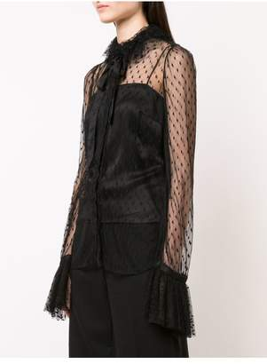 ADAM by Adam Lippes Point Desprit Blouse With Ruffle Collar