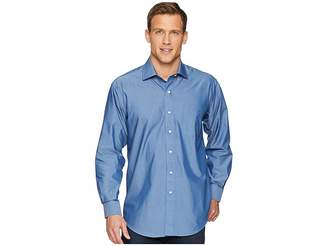 Magna Ready Long Sleeve Magnetically-Infused Solid Dress Shirt - Spread Collar