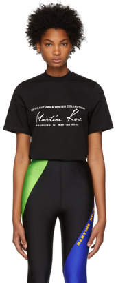 Martine Rose Black Slogan T-Shirt