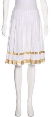 Ralph Lauren Black Label Pleated Knee-Length Skirt