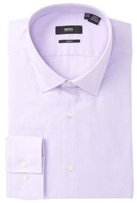 BOSS Textured Solid Slim Fit Dress Shirt