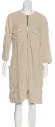 Celine Linen Zip-Up Dress