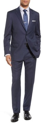 Men's Hart Schaffner Marx New York Classic Fit Solid Wool Suit $695 thestylecure.com