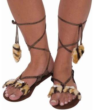 Forum Womens Stone Age Style Sandals Halloween Costume Accessory