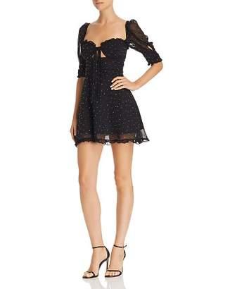 For Love & Lemons Lucky Dice Embellished Mini Dress