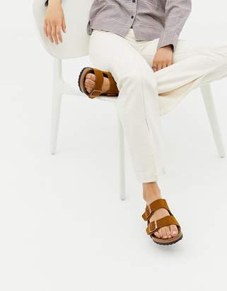 0bc15f3cbc20 Birkenstock Arizona suede flat sandals in mink