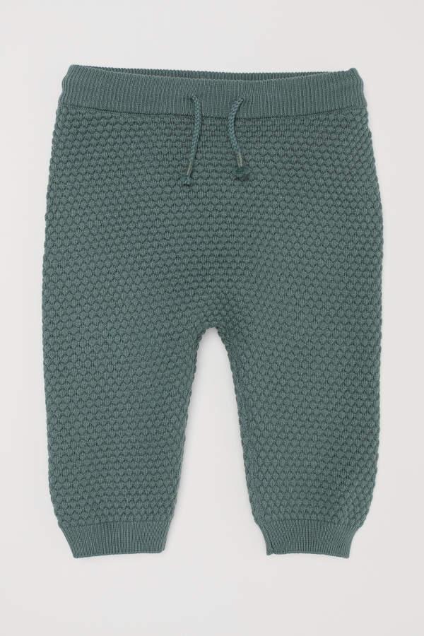 Textured-knit Pants