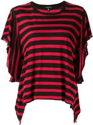 R 13 ストライプ Tシャツ