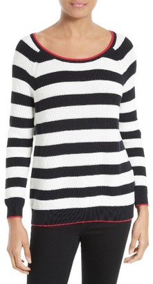 Women's Soft Joie Danila Stripe Sweater $198 thestylecure.com