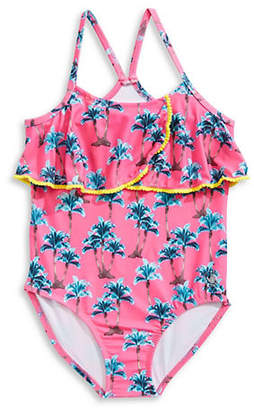 Body Glove Girl's Palm Printed Swimsuit