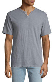 Men's Slub-Knit Henley T-Shirt