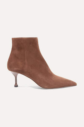 Prada 65 Suede Ankle Boots - Brown