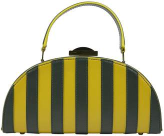 Adeam Yellow Leather Clutch Bag