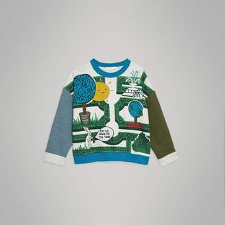 Burberry Hedge Maze Print Cotton Sweatshirt