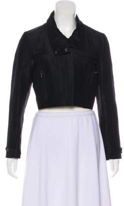 Barbara Bui Silk Cropped Jacket