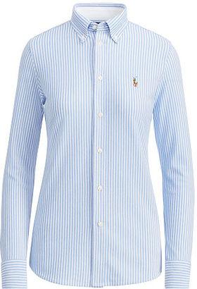 Polo Ralph Lauren Striped Knit Oxford Shirt $98.50 thestylecure.com