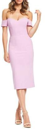Dress the Population Bailey Off-the-Shoulder Sweetheart Dress