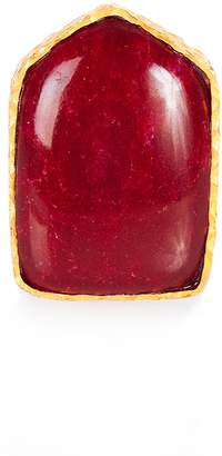 Christina Greene - Shield Ring in Red Quartz