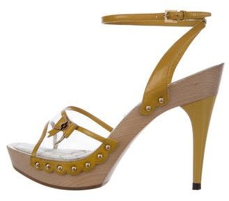 Louis Vuitton PVC Square-Toe Sandals