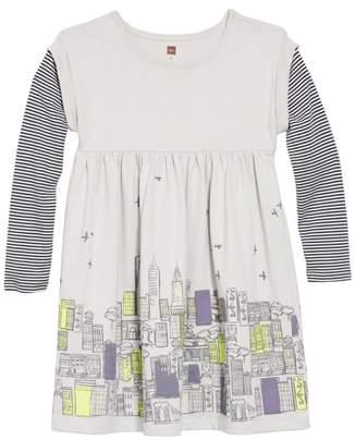 Tea Collection Layered Sleeve Dress
