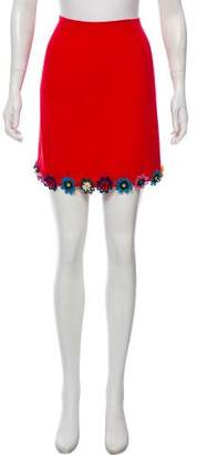 Mary Katrantzou Flower Trim Mini Skirt