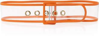 MAISON BOINET PVC And Leather Waist Belt Size: 70 cm
