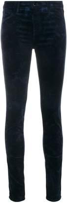 J Brand mid rise velveteen skinny jeans