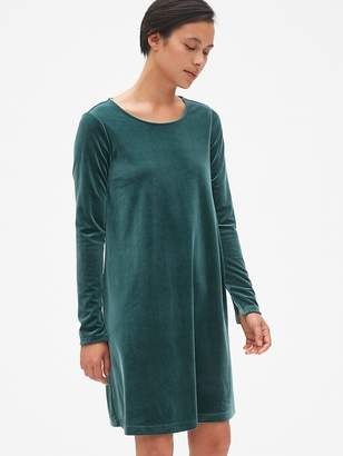 Gap Long Sleeve Velvet Swing Dress