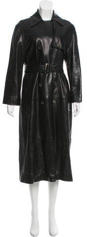 CelineCéline Long Leather Coat