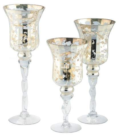 Diamond Star 3pc Votive Candle Holder Set Gold - Diamond Star®
