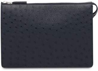 Prada Ostrich Leather Pouch